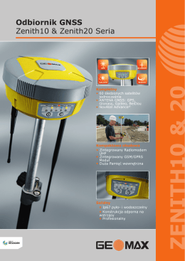 Odbiornik GNSS Zenith10 & Zenith20 Seria