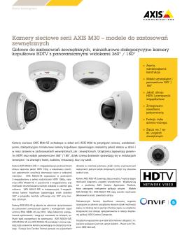 Kamery sieciowe serii AXIS M30 – modele do zastosowań