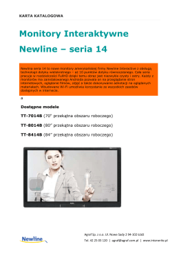 karta katalogowa NewLine seria 14