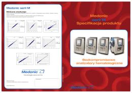 Medonic serii M Specifikacja produktu