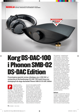 Korg DS-DAC-100 i Phonon SMB-02 DS-DAC Edition