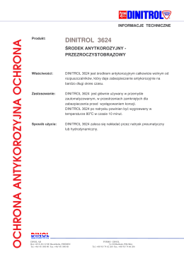 dinitrol 3624 - Kleje specjalistyczne SZU