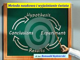PRM. Metoda naukowa i wyjaśnianie świata.