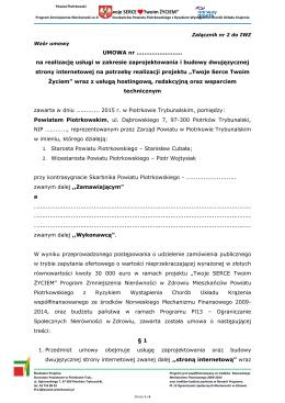 01c Wzór Umowy - Załącznik Nr 2