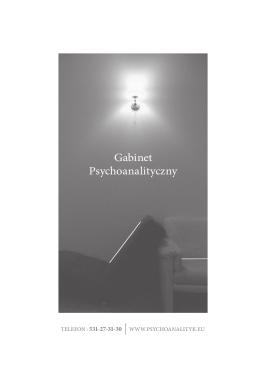 Gabinet ulotka - Gabinet psychoanalityczny