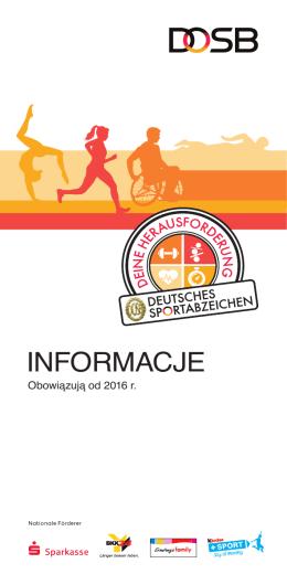 INFORMACJE - Deutsches Sportabzeichen