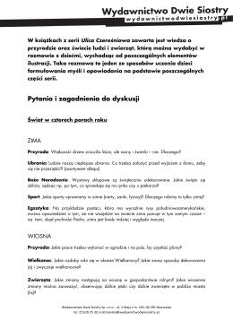 Ulica Czereśniowa - pytania i zagadnienia do dyskusji