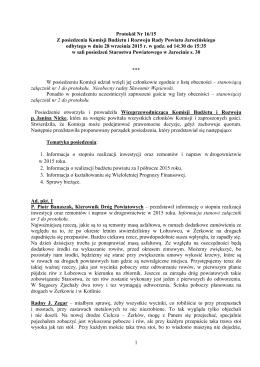 Protokół 16 - 28.09.2015 budzetu