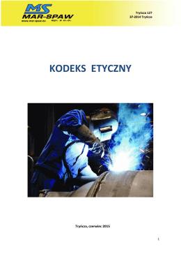 KODEKS ETYCZNY - MAR