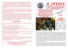 Numer bieżący - Parafia św. Józefa Robotnika w Bodzanowie
