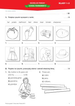 Test z II edycji konkursu klasy 1-3