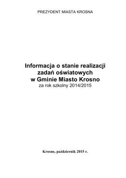 raport o stanie oświaty