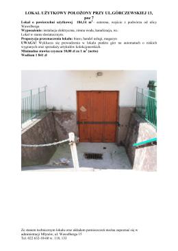 Górczewska 13, lokal o powierzchni 184,14 m2