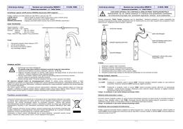 Instrukcja obsługi Szukacz par przewodów MS6812 # 4249, 5888