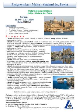 Pielgrzymka – Malta – śladami św. Pawła