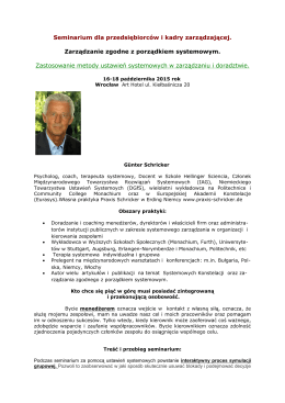 Seminarium dla biznesu z Günterem Schrickerem