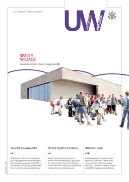 SPACER W CZASIE - Uniwersytet Warszawski
