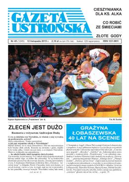 45/2015 - Archiwum Gazety Ustrońskiej