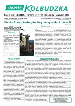 pobierz wydanie - Gazeta Kolbudzka