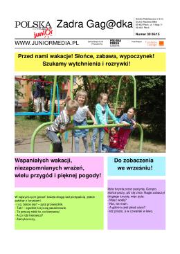 Zadra Gag@dka - Junior Media - Szkoła Podstawowa nr 6 w Płocku