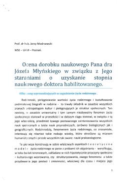prof. dr hab. Jerzy Modrzewski