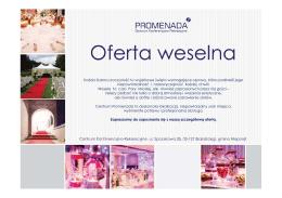 Oferta weselna - CKR Promenada