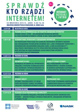 Agenda warsztatów na temat zarządzania Internetem