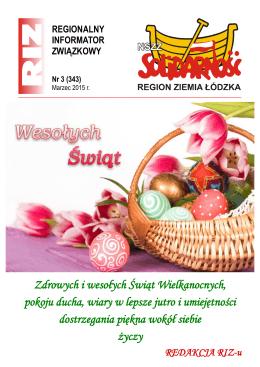 RIZ 2015 nr 03 - Region Ziemia Łódzka NSZZ Solidarność
