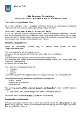 Regulamin konkursu - pobierz - Szkoła Podstawowa nr 2 w Żninie
