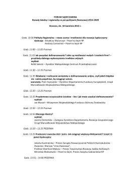 Seminarium – program