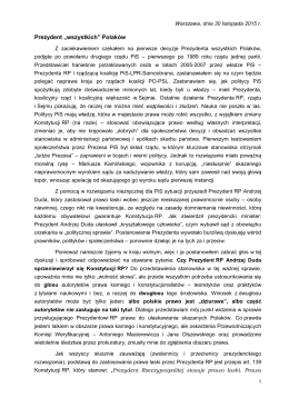 """Prezydent """"wszystkich"""" Polaków"""
