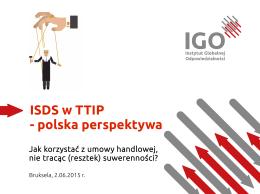 ISDS w TTIP - polska perspektywa