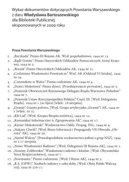 spis publikacji2015-v2 - Biblioteka Publiczna m.st. Warszawy