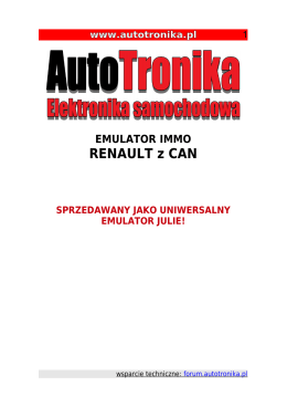 RENAULT z CAN – IMMO