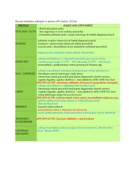Roczny kalendarz zabiegów w pasiece (W.Londzin, M.Zoń