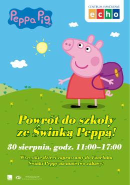 Powrót do szkoły ze Świnką Peppą!