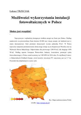 Możliwości wykorzystania instalacji fotowoltaicznych w Polsce