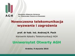 Nowoczesna telekomunikacja - uniwersytet otwarty (uo) agh