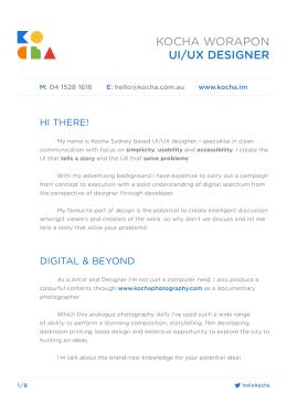 KOCHA WORAPON UI/UX DESIGNER