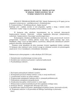 Szkolny Program Profilaktyczny SP45