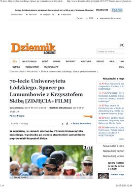 70-lecie Uniwersytetu Łódzkiego. Spacer po Lumumbowie