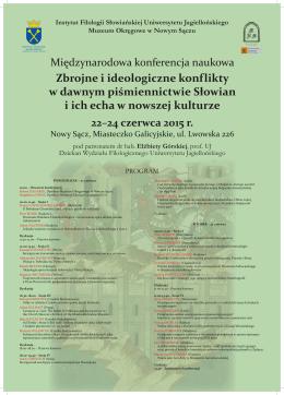 Zbrojne i ideologiczne konflikty w dawnym piśmiennictwie Słowian i