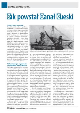 Kanał Sueski - PZITB Oddział Kielce