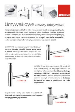 Ulotka umywalkowe zestawy odpływowe w PDF