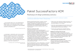 Pakiet SuccessFactors HCM