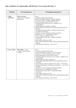 Plan wynikowy do podręcznika ABCDeutsch. Nowa edycja dla klasy 2