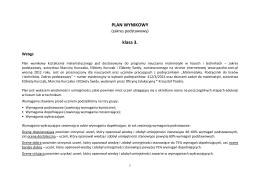 PLAN WYNIKOWY klasa 3.