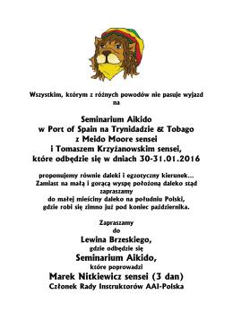 SEMINARIUM AIKIDO - Lewin Brzeski - AAI