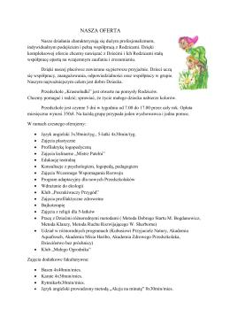 Nasza oferta w PDF - PrzedszkoleKrasnoludki.pl