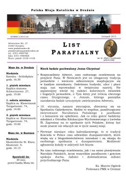 list parafialny_2_2015 - Polska Misja Katolicka